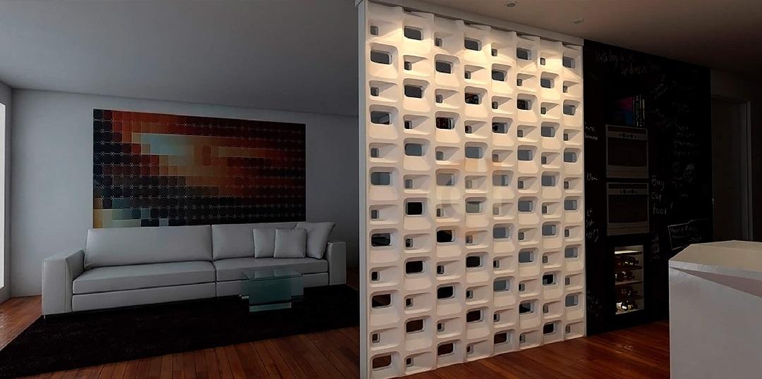 Блок Favi (Соты) интерьер