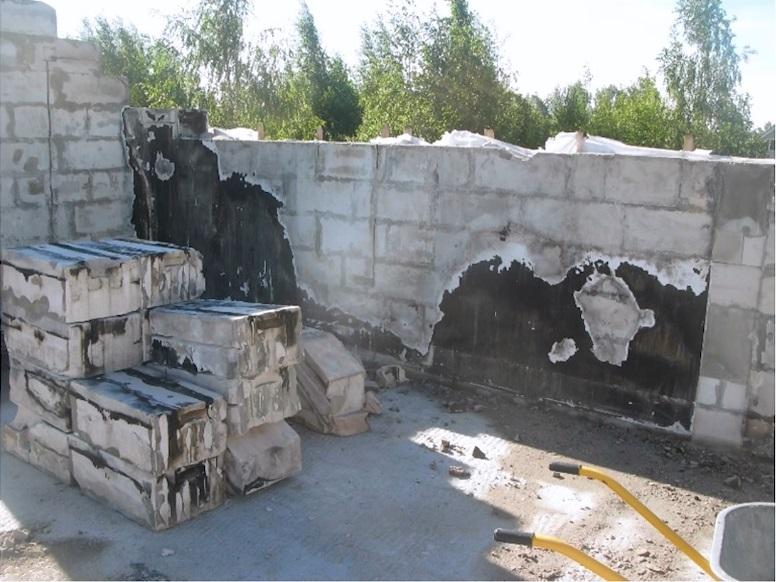 Блоки после пожара