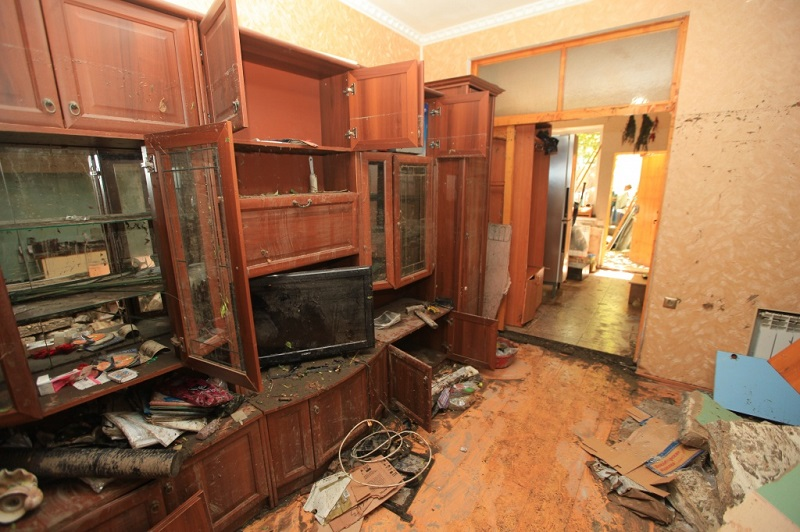 Комната после потопа